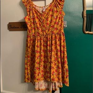 Super Soft Floral Chic Dress XL 15/17 (12/14) NWT